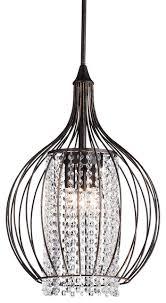 bronze and crystal chandelier pendant light