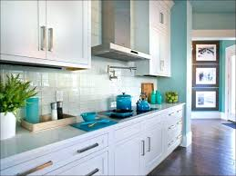 blue subway tile kitchen light glass white ceramic cabinets with