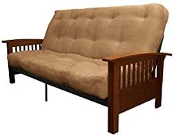 you can pare the details and other features before you epic furnishings morris mission style microfiber suede futon sofa sleeper bed walnut frame