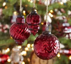 eclectic mercury glass ornaments red set of 3 saved view larger