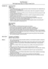 Hotel Receptionist Resume Receptionist Resume Samples Velvet Jobs S Sevte 16