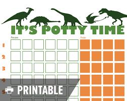 Dinosaur Potty Training Reward Chart Potty Training Chart Dinosaur Its Potty By