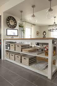Kitchen Island Storage Industrial Kitchen Island With Storage From Crates Pallets