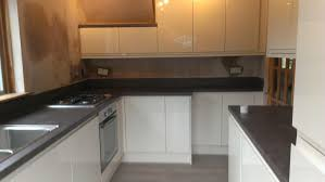 Cream Gloss Kitchens Integrated Cream Gloss Kitchen In Cumbernauld Elm Joiners And