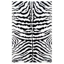 fun time zebra skin white 2 ft x 2 ft area rug