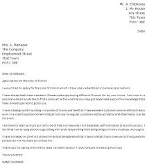 florist cover letter example what to put in a cover letter for a cv