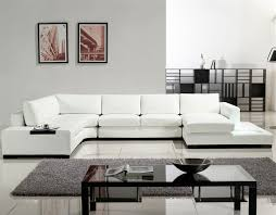 contemporary furniture small spaces. Modern White Bonded Sectional Sofa For Small Space Contemporary Furniture Spaces C