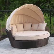 Round Outdoor Bed Shop Wd Patio 5tao Round Tao Day Bed At Lowes Canada Find Our