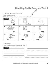 Practice Paper Reading Skills Practice Test 1 Grade 2 Printable Test Prep And Tests