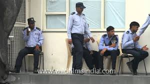 Security Personnel G4s Private Security Personnel Outside Maruti Suzuki Plant After Violence