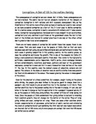 essay about corruption co essay about corruption