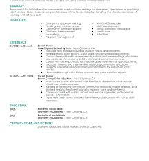 Social Work Resume Sample Stunning Collection Of Solutions Sample Social Work Resume Examples Career