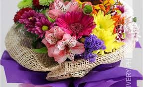 bouquet of mixed colorful flowers