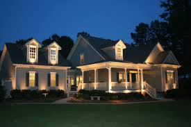 architectural lighting ideas using architectural soffit lighting for house with downward light on the ground