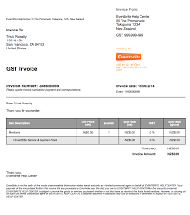 Invoice Template Nz Not Gst Registered For Mac Word Download Free