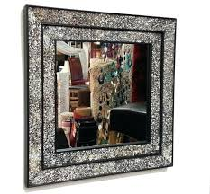wall mirrors glass mosaic wall mirror le glass mosaic wall mirror square black double frame