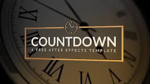 countdown templates countdown free ae template rocketstock