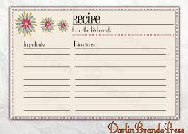 Free Printable Recipe Cards Unique Editable Card Templates For With ...