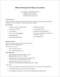 Medical Receptionist Resume Sample Free Resume Layout Com