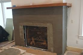 stone fireplace installation