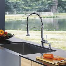 Most Reliable Kitchen Faucets Vigo Edison Single Handle Pull Down Spray Kitchen Faucet With Soap