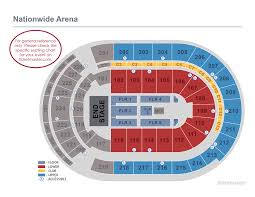 Ohio St Football Stadium Seating Chart Seating Charts Nationwide Arena