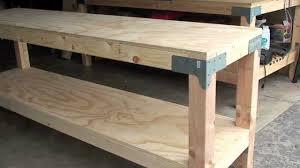 Work Bench 80 00 24 X 96 36 Tall J Black Youtube Free Plans Building Wood Workbench