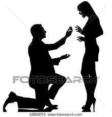 1 コーカサス人 恋人 人間がひざまずく 提供 婚約指輪 そして 女 幸せ 驚かされる 中に スタジオ