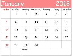 2018 calendar printable free january 2018 calendar printable free pdf template