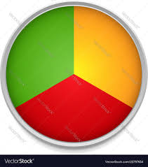 One Third Of A Pie Chart Tricolor Pie Chart Icon With One Third Parts