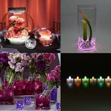 vase lighting. 50pcs Wedding Centerpiece Under Vase Lighting 3CM Mini LED Submersible Candles Waterproof Underwater Tea Light With Battery-in Holiday From