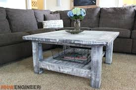 make your own coffee tables square plank coffee table plans rogue engineer