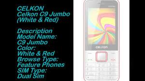 Celkon C9 Jumbo (White & Red) Complete ...