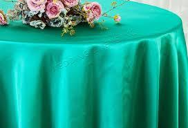 90 round satin tablecloth jade 55526 1pc pk