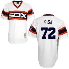 White Fisk Sox Carlton Jersey