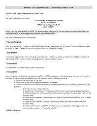 Sample Outline Of Lpr Recommendation