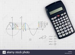 sine function maths background stock image