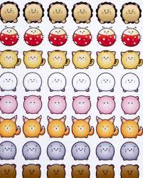 Tsum Animals Stickers Erin Condren Planner Tsum Tsum
