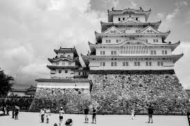 famous architectural buildings black and white. Download Himeji Castle Japan In Black And White Editorial Photo - Image Of Photography, Château Famous Architectural Buildings