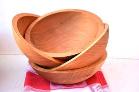 wood salad bowl with stand set large wooden salad bowls deep wood serving bowls bowl and wood salad bowl with stand set large