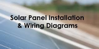 solar panel wiring & installation diagrams electrical tech wiring diagram of cp9127 Wiring Diagram Of #43