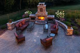 fireplace in backyard landscaping outdoor fireplaces in backyard fireplace with pizza oven