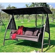 patio swing parts china luxury 3 seats rattan wicker patio swing covered canopy parts patio swing