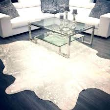 fancy silver cowhide rug arts lovely for interior architecture glamorous white and faux