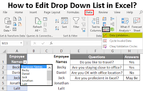 How To Edit Drop Down List In Excel Steps To Edit Drop