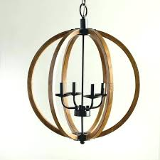 attractive wooden orb light fixture round wood chandelier with design 7 rustic amazing of home depot