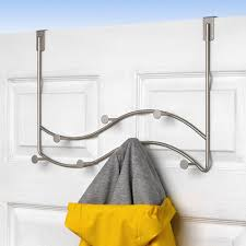 Satin Nickel Coat Rack Gorgeous Over The Door Sweep Coat Rack Satin Nickel In Over The Door Hooks