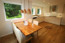 Wooden Floors In Kitchen Flooring Ideas Modern Kitchen With Dark Kitchen Cabinet And