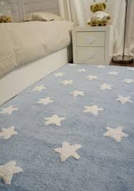 washable children s rug stars blue bedroom