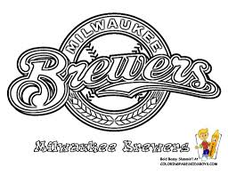 Small Picture Milwaukee Brewers Baseball Coloring Pages Book For Bebo Pandco